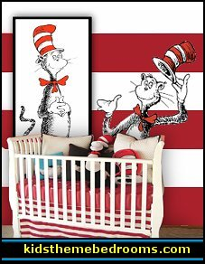 Bedroom Decorating Ideas Red White And Black dr seuss nursery decorating ideas - cat in the hat theme bedroom