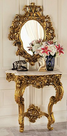 Inspired By French Rococo Antiques Found In The Grand Salons Of Paris.  Sculpted Roses And