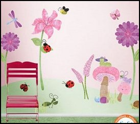 Ladybug Theme Bedroom Girls Bedroom Ladybug Wall Mural