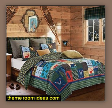 Rustic Log Cabin Decor Cabin By The Lake Bedroom Decor Cabin In The Woods Bedroom Decorating Ideas Moose Fishing Camping Hunting Lodge Bedrooms For Boys Black Bear Decor