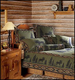 Lodge cabin log cabin themed bedroom decorating ideas for Cabin themed bedroom ideas