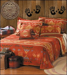 drawing inspiration from native american rock paintings the rock art bedding collection brings together beautiful - Southwestern Decor
